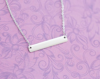 Stainless Bar Necklace - Stainless Steel Stamping Blanks - Metal Stamping Blanks - Silver