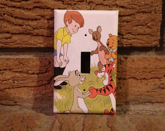 Winnie the Pooh Light Switch Cover, Winnie the Pooh Nursery, Winnie the Pooh Decor, Winnie the Pooh Christopher Robin, Kanga, Tigger, WTP22