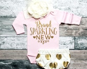 Coming Home Outfit Baby Girl Clothes Brand Sparkling New Bodysuit Baby Girl Newborn Shirt New Baby Shirt #34