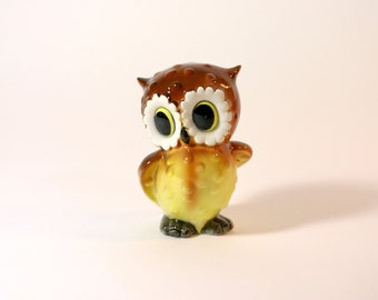 Norcrest Owl Bank, Ceramic, Japan, Stopper, Cute, Mid Century, Coin