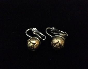 Vintage Rosebud Clip-on earrings
