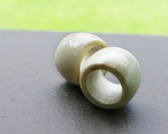 Antler Dread Beads, Deer Antler Beads, Simple Antler Beads, Antler Carving, Antler Jewelry, Antler Hair Beads,Heatherfish Creations