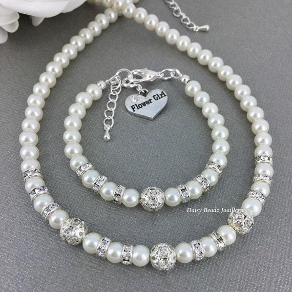 Flower Girl Baskets Canada : Flower girl necklace jewelry set