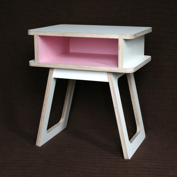 Mid Century Modern Pillows Etsy : Items similar to mid century modern bedside table / nighstand on Etsy