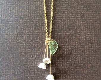 Lily of the Valley - Lily of the Valley Jewelry - Lily of the Valley Necklace - Floral Jewelry - Flowers - Lily Necklace - Lily Jewelry