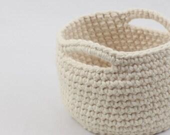 SALE Storage Basket - Medium // Crochet Basket // Home Storage