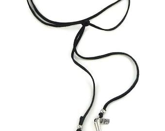 Black Leather Wrap Long Bohemian Choker Necklace