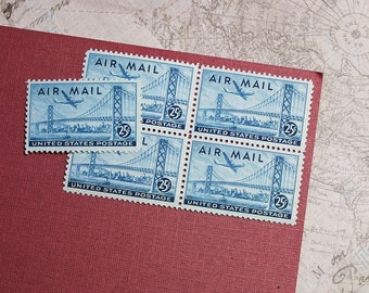 Vintage Unused US Postage Stamp 25c San Francisco Airmail Stamp of 1947 .. Pack of 10  Scott catalog #C36