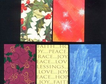 Christmas ATC Backgrounds - Artist Trading Cards, Collage, Mixed Media