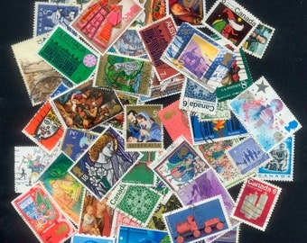 Christmas Postage Stamps - Set of 45 Worldwide - Collage, Handmade Greeting Cards, Gift Tags
