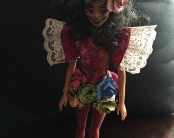 OOAK barbie Sugar Skull Day Of The Dead Doll