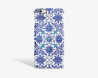 iPhone 7 Case Moroccan iPhone 6 Case Moroccan iPhone 6 Tough Case Moroccan  Moroccan Print iPhone SE Case Bohemian Blue iPhone Case
