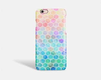 iPhone 7 Case iPhone 6s case Cute Cell Phone Cases iPhone 6 Case Tough Hexagon iPhone SE case Geometric iPhone case  Tough