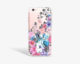 iPhone 7 Plus Clear Case Floral iPhone 7 Case Girlfriend Gifts Clear iPhone Case Floral Samsung S8 Plus Case Summer Floral Gifts Under 30