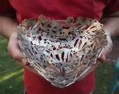Medium Heart Bowl, 22 cm, Key bowl, Metal bowl, Metal sculpture ornament, Made to order