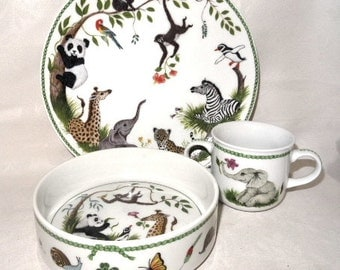Jungle Party, Too by Chase Nursery Dish Set