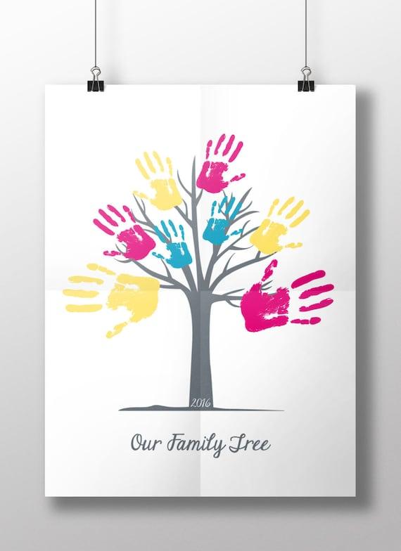 Fingerprint Tree Teacher Tree 11x14 Canvas  |Diy Fingerprint Tree