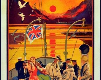 Art Print Scotland The Hebrides David MacBrayne 1920s,  Poster Print 8 x 10