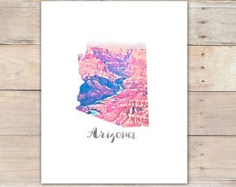 Arizona Printable Watercolor Grand Canyon