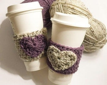 Bestie Coffee Cozies ~ Crochet Coffee Cozy ~ Reusable Coffee Cozy ~ TWO Coffee Cozies