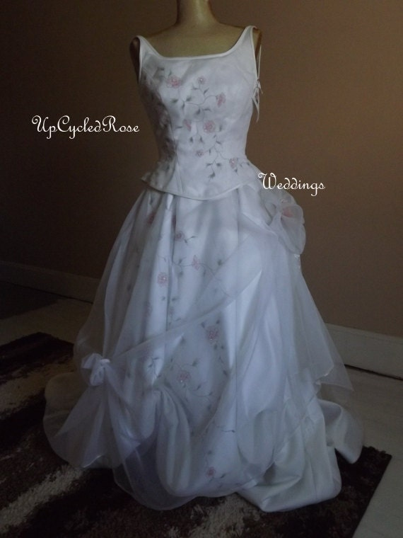 Garden Weddings are Romantic Up-cycled Boho Princess  Forest Bride Ready to Ship
