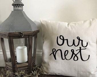 Our nest pillow cover
