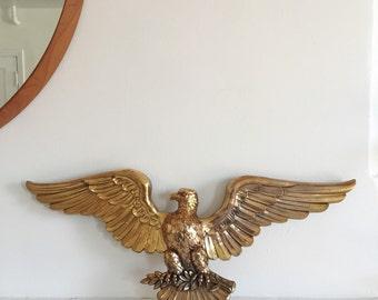Vintage Gold Eagle . Eagle Wall Hanging . Americana