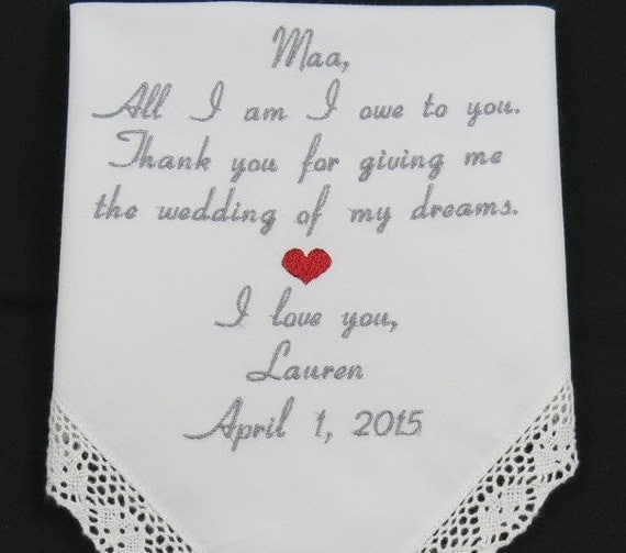 Mother Of The Bride Embroidered Wedding By NapaEmbroidery
