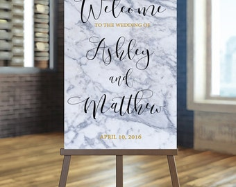 Printable Wedding Sign, Welcome Wedding Sign, Marble Wedding Sign, Elegant Wedding Sign, Custom Wedding Sign, Modern Welcome sign, Gold sign