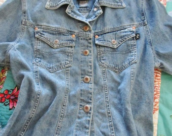 The BEST Vintage Women's Denim Jeans Shirt/Jacket - M