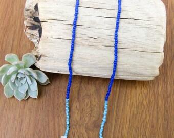 rose quartz // heart chakra necklace // turquoise blue necklace