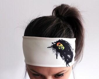 Yoga Headband - Fitness Headband - Workout Headband - Running Headband - Boho Headband - Elastic Headband - Bob Marley Headband Y25