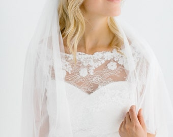 wedding veil elbow length  - Cécilia