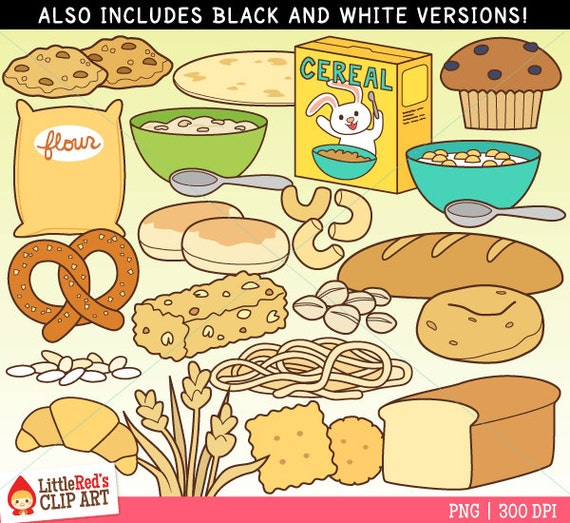 Grain Foods Clip Art and Lineart personal and commercial use