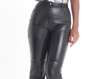 90s Escada High-waist Leather Pants - Sale Does Not Apply