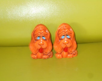1960s Pet Set Shakers -  Salt and Pepper Shakers - New Old Stock