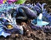 Oriental Purple Dragon with 3 Eggs