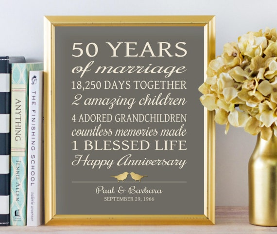 Ideas For Golden Wedding Anniversary Gifts: 50th Anniversary Gifts Golden Anniversary 50 Years