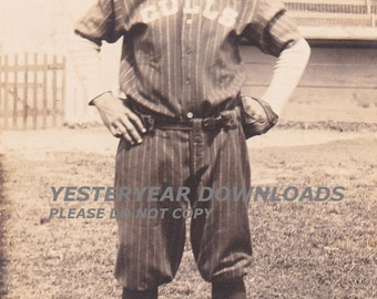 Photo Baseball Player - 1916 Charleston Gulls Near Grandstand Digital Download