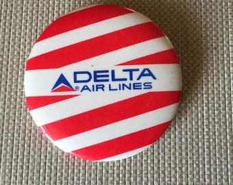Vintage Delta Airlines Pinback Button