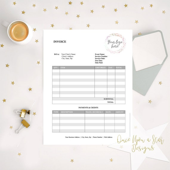 invoice template editable business forms photographer, Invoice templates