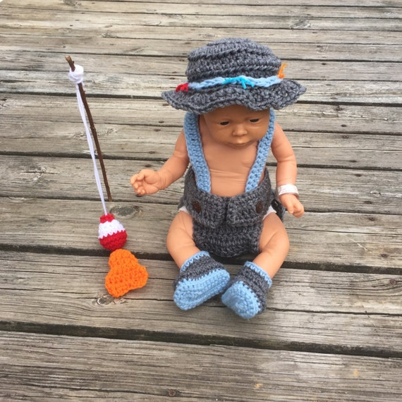 Baby Photo Prop Fisherman Outfit Baby Boy By Handcraftedloot