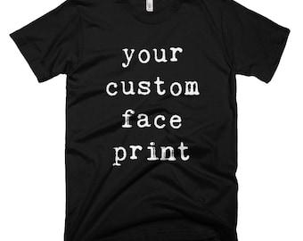 Personalized Mens T-shirt, Custom Mens T Shirt, Custom Dog Print, Customised Mens Tshirt, Personalised Husband Gift, Custom Boyfriend Gift