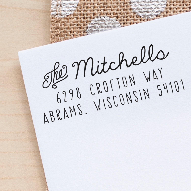 Custom Rubber Address Stamp Wedding Stationery Stamp Wedding Invitation Stamp Rustic Wedding