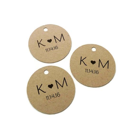 Round Wedding Gift Tags : Tag - Custom Wedding Favor Tags - Round Wedding Tag - Kraft Tags ...