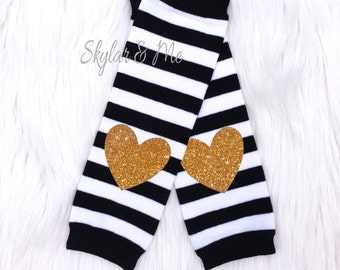 Leg Warmers, baby leg warmers, girls leg warmers, black and gold birthday outfit, black and gold leg warmers, leggings, toddler leg warmers