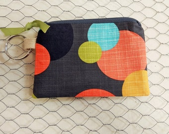 Small zipper pouch, ID holder, Coin purse, Credit card pouch