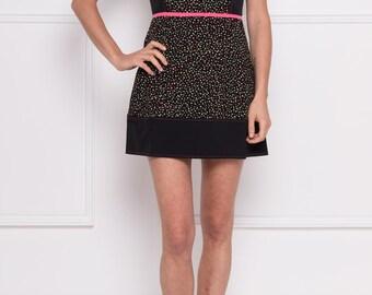 Multicolor Geometric Patterns Sleeveless Dress.