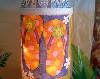 FLIP FLOP lamp for your decor. Summer is near, this will brighten your day! Colorful and bright for your home or patio.