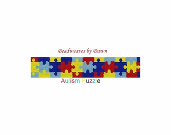 Peyote Bracelet Patterns, Beading Instructions, Autism Puzzle Patterns, Bead Patterns, Beadwork Patterns, Peyote Stitch patterns